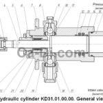 Hydraulic cylinder KD31.01.00.00